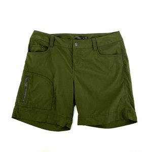 Prana Cargo Green Zip Side Pocket Hazel Shorts